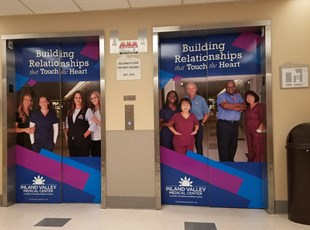 wall covering, interior, vinyl, signs by tomorrow, inland valley, southern california, southwest healthcare, wildomar, murrieta