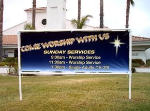 LDS Church Banner