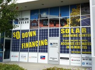 Triple Line Solar Window Graphics