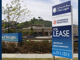 Wood Leasing Sign