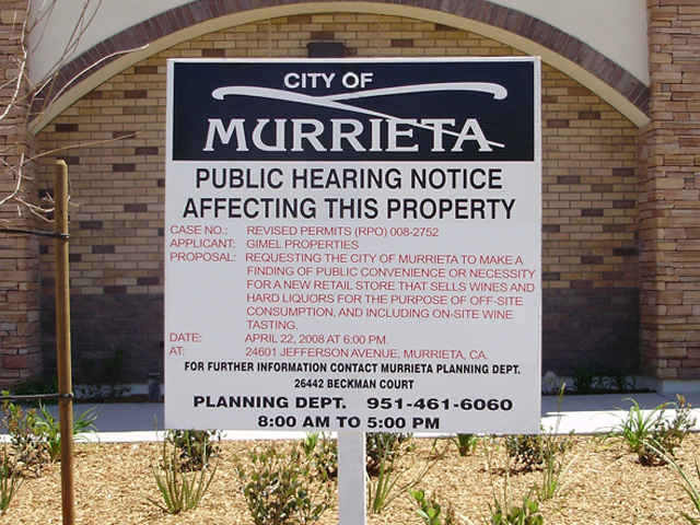 Murrieta Public Hearing Notice