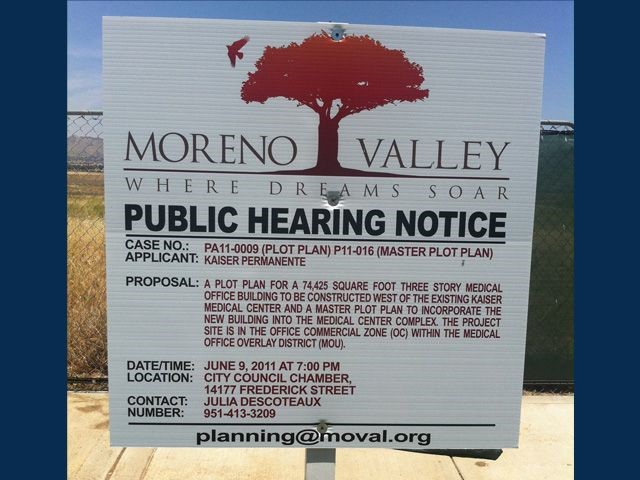 City of Moreno Valley Public Hearing
