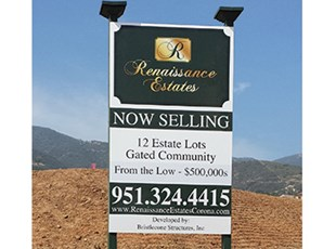 post and panel sign, signs by tomorrow, murrieta, inland valley, southern california, bristlecone, san juan capistrano