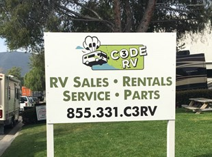 post and panel sign, signs by tomorrow, murrieta, inland valley, southern california, code 3 RV, temecula