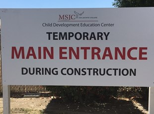 post and panel sign, signs by tomorrow, murrieta, inland valley, southern california, mount san jacinto community college, msjc, temecula