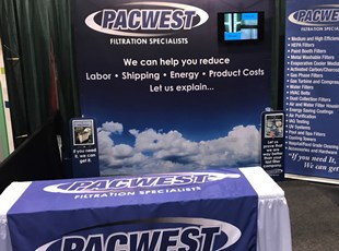 tradeshow booth, custom, pacwest, air filtration, murrieta, signs by tomorrow, temecula, inland valley, southern california