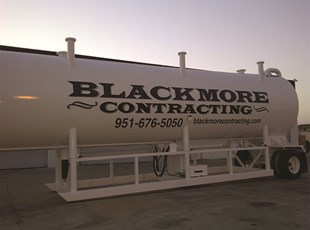 Blackmore Contracting Vinyl Lettering