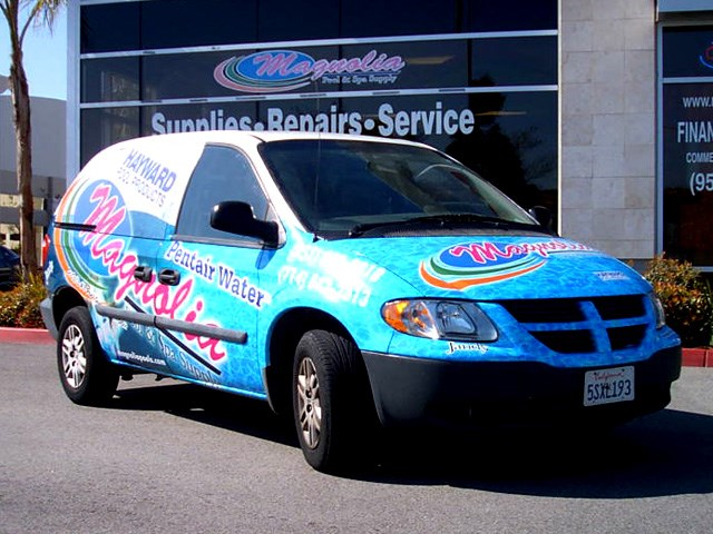 Magnolia Pools Vehicle Wrap