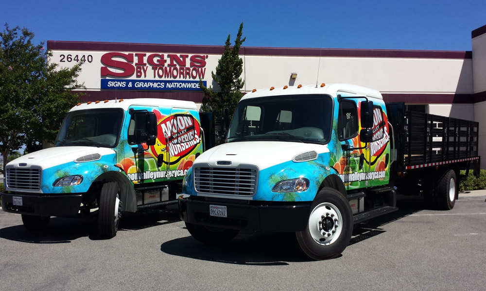 Vehicle Wrap on Commercial Nursery Trucks