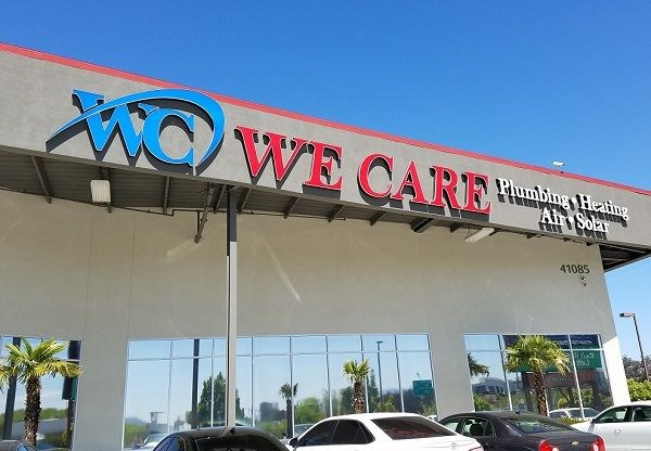 Illuminated Sign for We Care Airconditioning