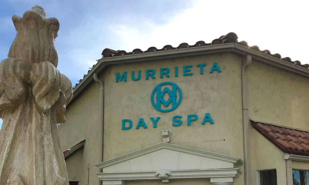 Dimensional Lettering Murrieta Day Spa Murrieta