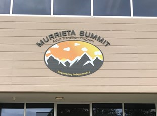 dimensional lettering, outdoor, signs by tomorrow, inland valley, southern california, murrieta summit, temecula, adult transition center