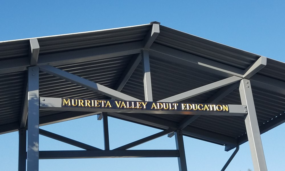 dimensional lettering, outdoor, signs by tomorrow, inland valley, southern california, murrieta canyon academy, temecula