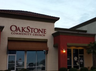 dimensional lettering, outdoor, signs by tomorrow, inland valley, southern california, oakstone church, wildomar, murrieta
