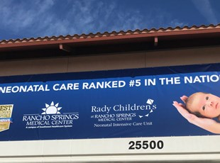 vinyl banner, signs by tomorrow, inland valley, southern california, custom, rancho springs medical center, temecula, murrieta