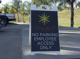 aframe, signage, signs by tomorrow, inland valley, southern california, murrieta, danza del sol, winery, temecula