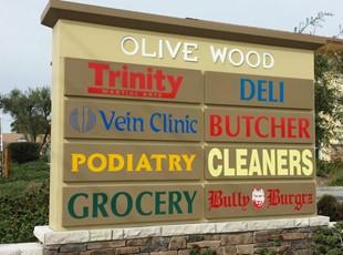 Monument Sign Olive Wood Murrieta