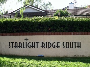 Monument Sign Starlight Ridge South Temecula