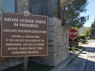 Metal Traffic Sign Bear Creek Murrieta