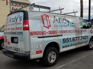 Vehicle Wrap Andy's Glass and Window Company Murrieta