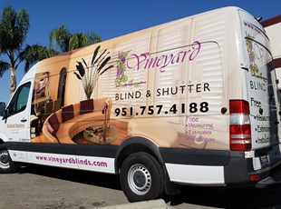 Vehicle Wrap Vineyard Blind