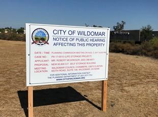 Wildomar Public Hearing Sign