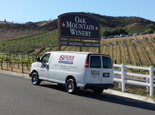 Oak Mountain Winery Post & Panel
