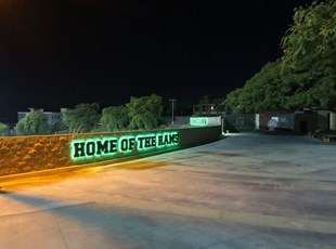Halo Illuminated Stadium Signage | Murrieta Mesa High School