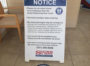 Coronavirus (COVID-19) Signage | A-frame Signs | Floor Graphics Murrieta