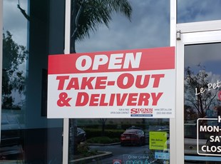 Free Take Out & Delivery Signs | Coronavirus (COVID-19) Signage | Yard / Bandit Signs | Restaurants & Foodservice
