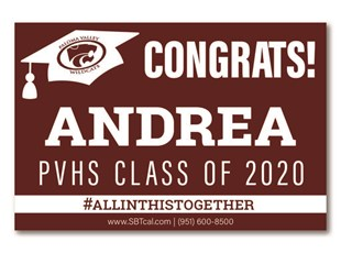 Graduation Signs | Paloma Valley High School Wildcats | Menifee