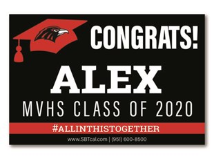 Graduation Signs | Murrieta Valley High School Nighthawks