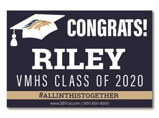 Graduation Signs | Vista Murrieta High School  Broncos