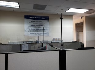 Custom Social Distancing Safety Screens | Tech Support Center | Mythos Technologies