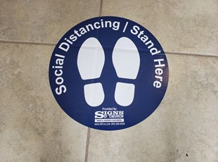 Social Distancing Signs | Floor Graphics | Indoor OU\utdoor