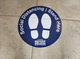 Social Distancing Signs | Floor Graphics | Indoor OU\utdoor