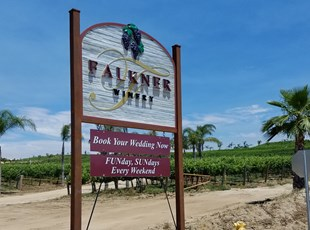 Temecula Wine Country Post and Panel Sign - Sandblasted post  & Panel sign - Signs By Tomorrow Post & Panel Sign