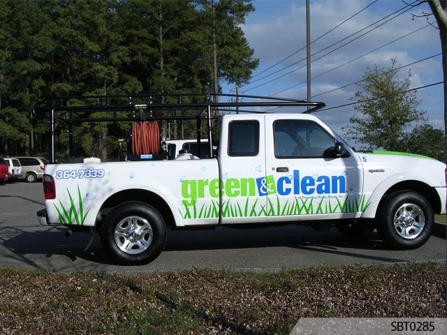 landscaper vehicle graphics lettering