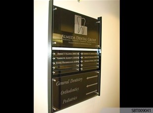 Dentist Interior Acrylic Directory Sign