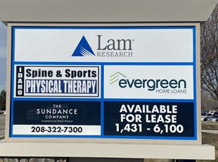 Monument Signs | Outdoor Vinyl Lettering & Graphics | Banking | Boise, Idaho