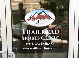 Window Lettering | Outdoor Vinyl Lettering & Graphics | Healthcare | Boise, Idaho