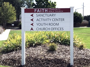 Church | Post & Panel Signs | Directional Signs | Religion | Boise, Idaho