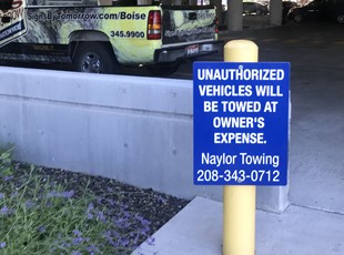 Parking Signs & Street Signs | Property Mgmt. | Boise, Idaho