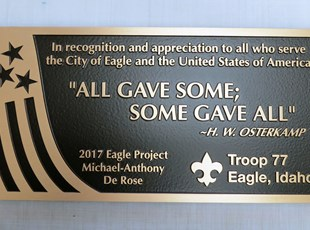 Engraved Signs & Plaques | Metal Signs | Education | Eagle, Idaho
