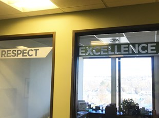 Window Graphics | Indoor Vinyl Lettering & Graphics | Construction | Boise, Idaho