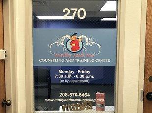 Window Graphics | Indoor Vinyl Lettering & Graphics | Healthcare | Boise, Idaho