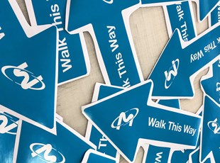 Indoor Floor Graphics | Directional Signs | Manufacturing | Boise, Idaho