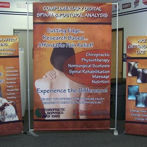 A cohesive collection of banners allow flexibility in your trade show displays