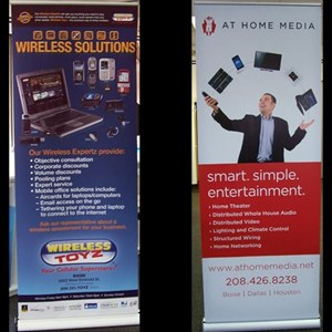 Retractable banner stands are great for traveling to trade shows