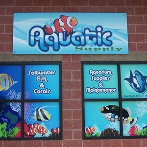 Full color signs and window graphics really pop